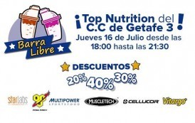Barra libre en Top Nutrition de Getafe
